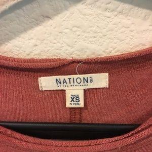 Nation LTD Tops - Nation LTD long sleeve shoulder cut out tee